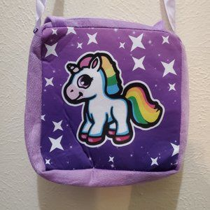Child's Purple Unicorn Purse with Wallet